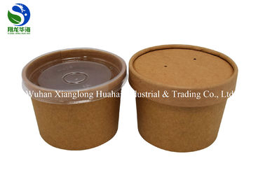 China 650ML & 800ML Eco Friendly Small Paper Bowls Reusable With Plastic Lids factory