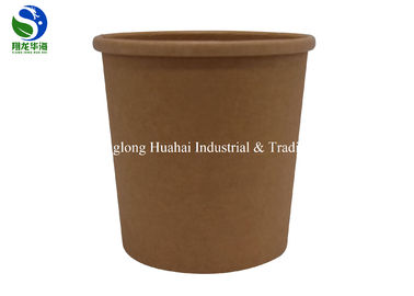 China 100% Reusable Paper Soup Bowls Heat Insulation For Noodle , Plastic / Paper Lid factory