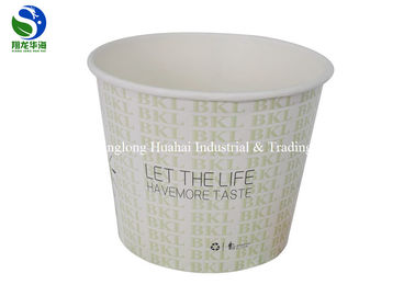 China Restaurant Disposable Paper Soup Bowls Designed Microwave Salad Take Out Kraft distributor